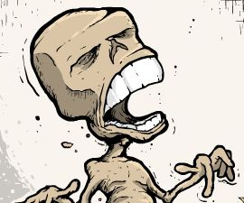 Тайлер - пластилиновый скелет